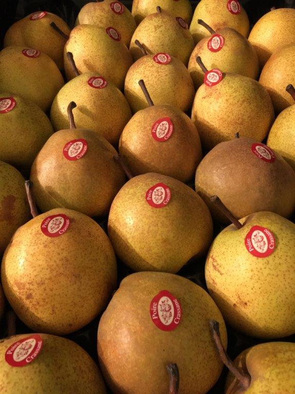 Commercialisation de la production de poires Passe Crassane